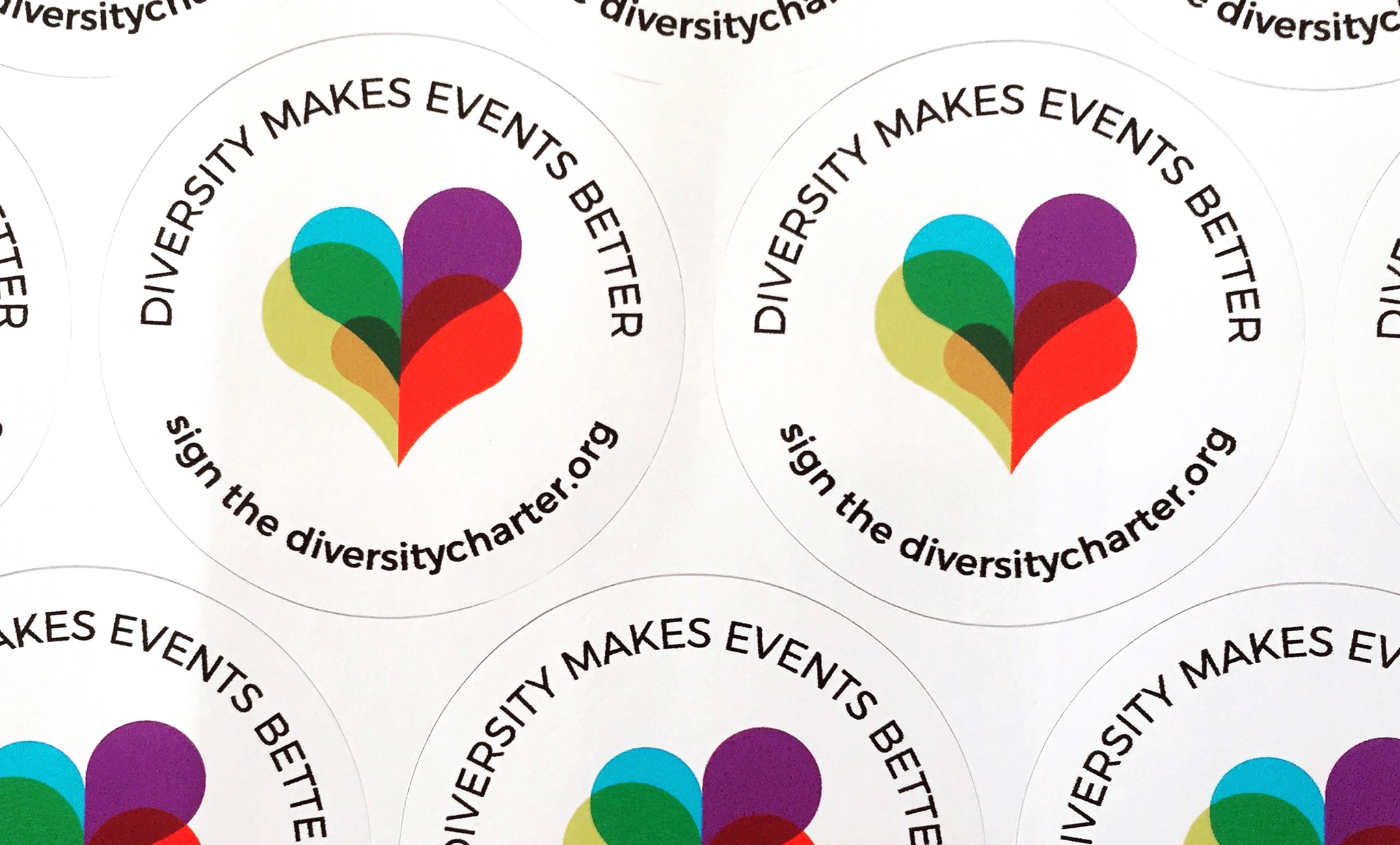 Diversity charter stickers